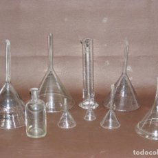 Antigüedades: LOTE VIDRIO SOPLADO FARMACIA.. Lote 113085991