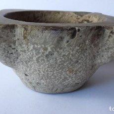 Antigüedades: GRAN MORTERO MUY ANTIGUO DE PIEDRA CON MAZA. Lote 113088259