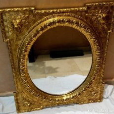 Antigüedades: ESPEJO DE PAN DE ORO MUY ANTIGUO. Lote 113096375