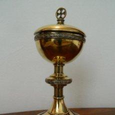 Antigüedades: EXTRAORDINARIO COPON EN PLATA DORADA Y ESMALTES MASRIERA Y CARRERAS CIRCA 1925. Lote 113102259