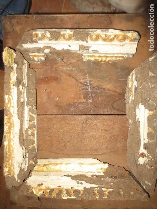 ANTIGUO MARCO MADERA PAN DE ORO SIGLO XVII PARA RESTAURAR COMPLETAMENTE 33 X 33 CMS (Antigüedades - Varios)