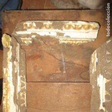 Antigüedades: ANTIGUO MARCO MADERA PAN DE ORO SIGLO XVII PARA RESTAURAR COMPLETAMENTE 33 X 33 CMS. Lote 113149703