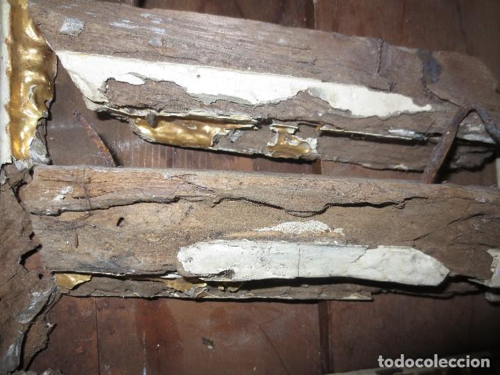 Antigüedades: ANTIGUO MARCO MADERA PAN DE ORO SIGLO XVII PARA RESTAURAR COMPLETAMENTE 33 X 33 CMS - Foto 4 - 113149703