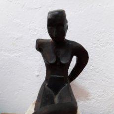 Antigüedades: ESCULTURA EN TERRACOTA POLICROMADA. AUTOR DESCONOCIDO.. Lote 156856248