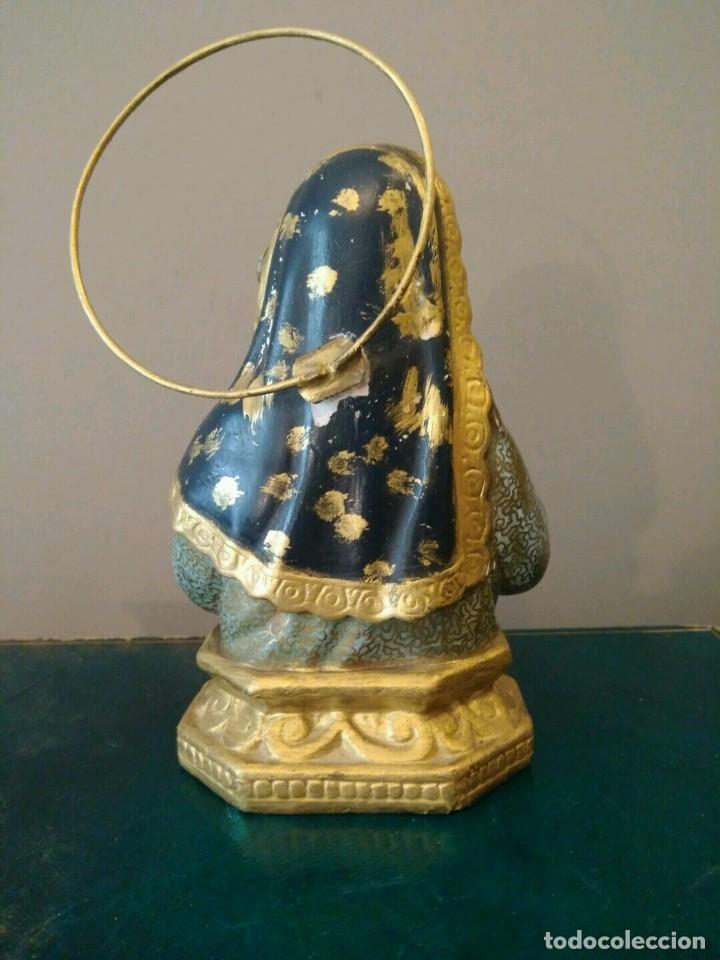 Antigüedades: ANTIGUA FIGURA VIRGEN MARIA NIÑA - EN YESO POLICROMADO. - Foto 3 - 113164603