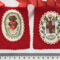 Antigüedades: ESCAPULARIO APOSTOLADO DE LA ORACIÓN PARA PROCESIONAR. H. 1950?. Lote 113173139