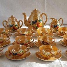 Antigüedades: ANTIGUO JUEGO DE CAFE / TE JAPONES DE PORCELANA - CASCARA DE HUEVO - 27 PIEZAS. Lote 113176635
