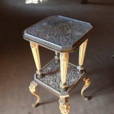 Antiquités: VELADOR ESTILO LUIS XVI CON GRABADOS DE NÁCAR. Lote 113182091