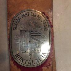 Antigüedades: PLACA DE GUARDA DE CAZA. Lote 113182283