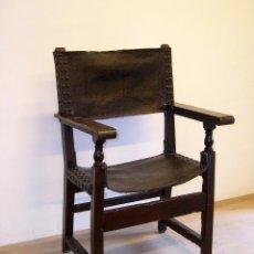 Antigüedades: SILLÓN FRAILERO CATALAN S. XVII. Lote 113187135