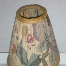 Antigüedades: PANTALLA LAMPARA TELA ART DECO. Lote 113201460
