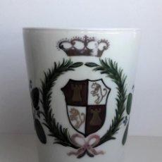 Antigüedades: VASO DE OPALINA DE LA GRANJA. Lote 113204247