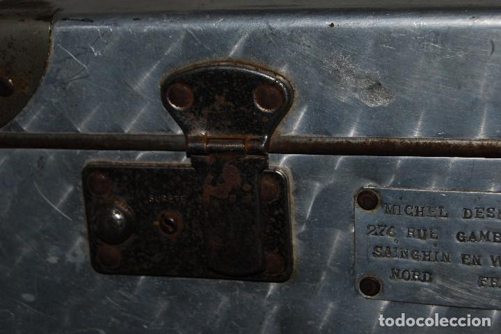 Antigüedades: ORIGINAL MALETA DE METAL - FRANCIA - AÑOS 40 - Foto 5 - 113224447