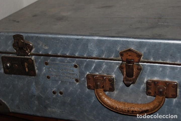 Antigüedades: ORIGINAL MALETA DE METAL - FRANCIA - AÑOS 40 - Foto 13 - 113224447