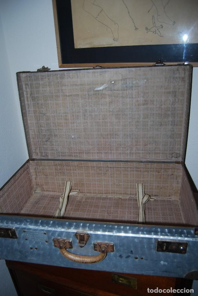 Antigüedades: ORIGINAL MALETA DE METAL - FRANCIA - AÑOS 40 - Foto 14 - 113224447