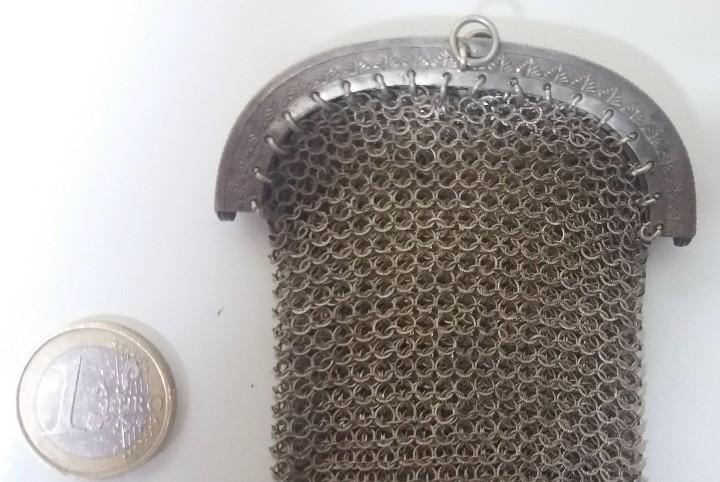 Antigüedades: Antiguo bolso monedero de malla. Años 20-30- Época modernista. - Foto 3 - 113234611