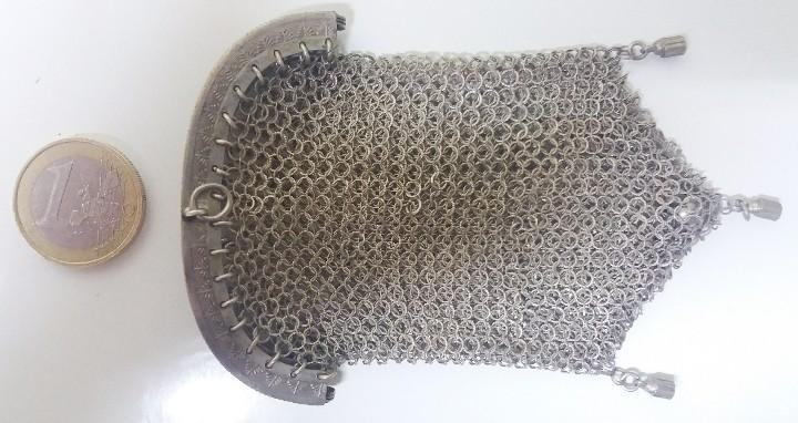 Antigüedades: Antiguo bolso monedero de malla. Años 20-30- Época modernista. - Foto 4 - 113234611