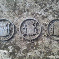 Antigüedades: ANTIGUAS MONEDAS ESPAÑOLAS - CALADAS PARA PULSERA - 16 GRAMOS DE PLATA EN SU COLOR. Lote 113248787