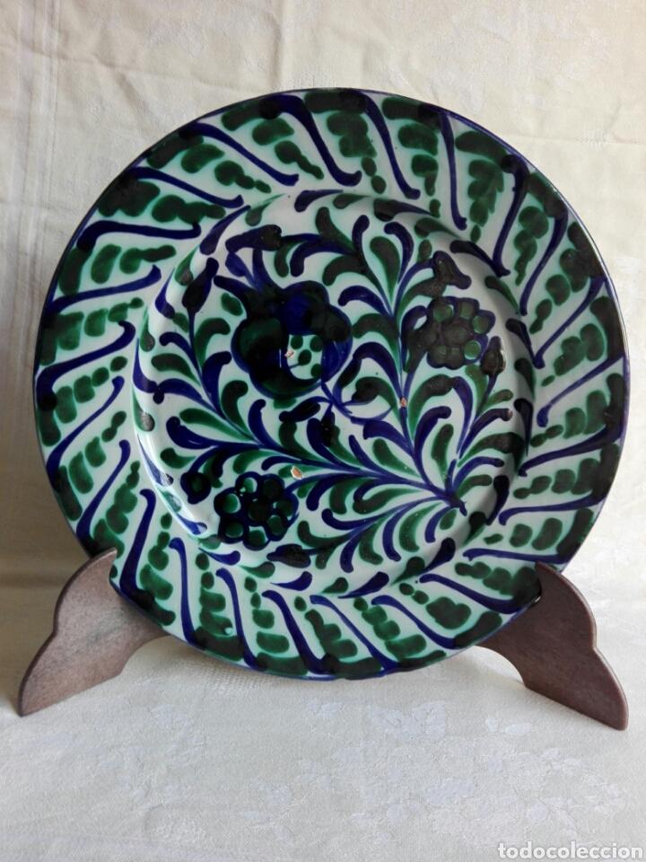 PLATO PRECIOSO DE CERÁMICA GRANADA GRANADINA FAJALAUZA 25,5 CM (Antigüedades - Porcelanas y Cerámicas - Fajalauza)