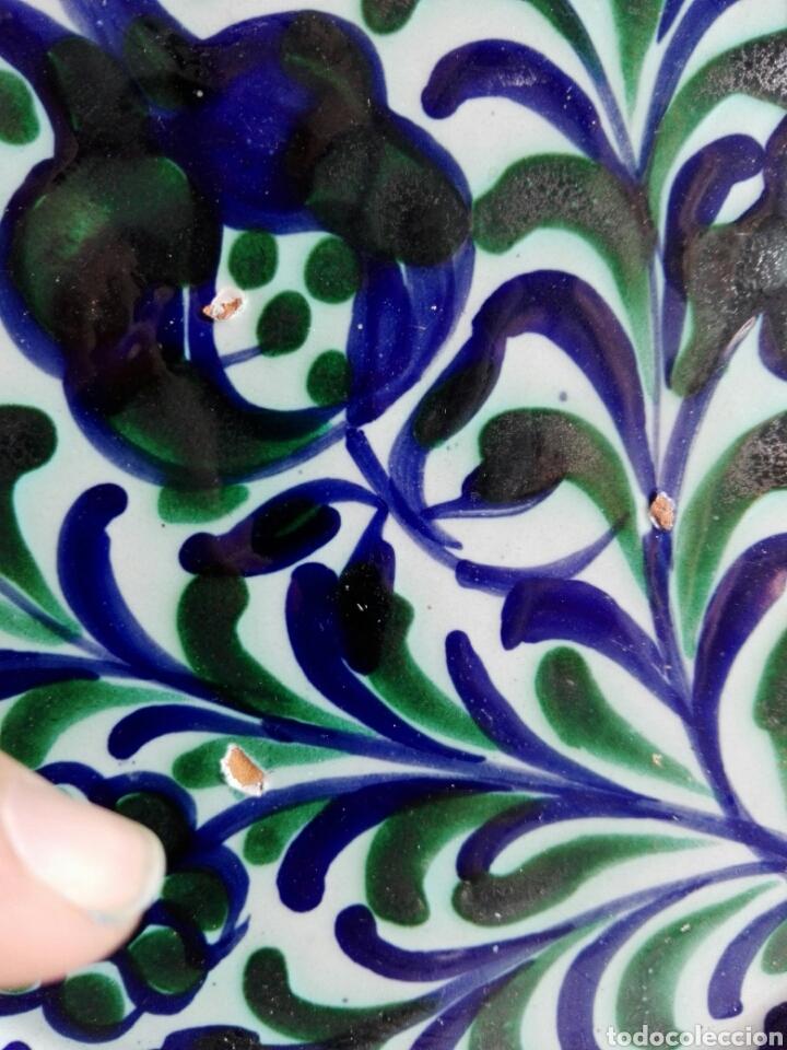Antigüedades: Plato precioso de cerámica Granada granadina Fajalauza 25,5 cm - Foto 3 - 113268447