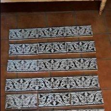 Antigüedades: LOTE DE 21 AZULEJOS MENSAQUE - RODRÍGUEZ,TRIANA 1900.. Lote 113274287