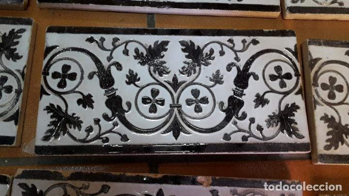 Antigüedades: Lote de 21 azulejos Mensaque - Rodríguez,Triana 1900. - Foto 2 - 113274287