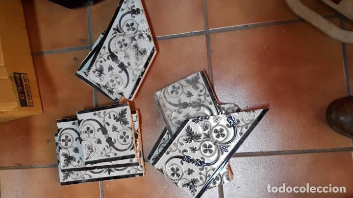 Antigüedades: Lote de 21 azulejos Mensaque - Rodríguez,Triana 1900. - Foto 5 - 113274287