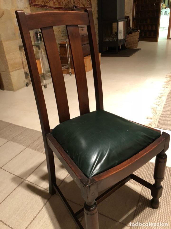 4 sillas comedor inglesas o americanas de madera