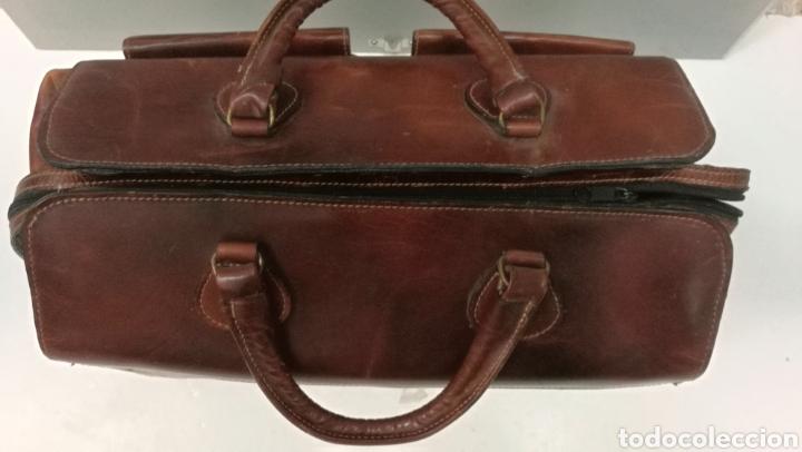 Antigüedades: Precioso bolso vintage, tipo maletín de médico - Foto 9 - 113309290
