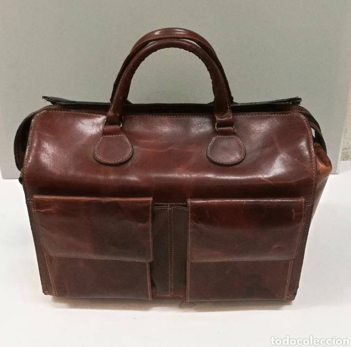 Antigüedades: Precioso bolso vintage, tipo maletín de médico - Foto 14 - 113309290