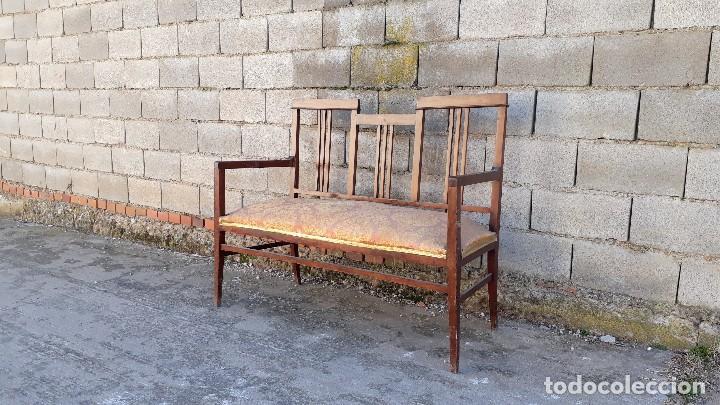 Antigüedades: Tresillo antiguo estilo modernista, sofá antiguo + dos sillones antiguos estilo modernista, art deco - Foto 5 - 113327643