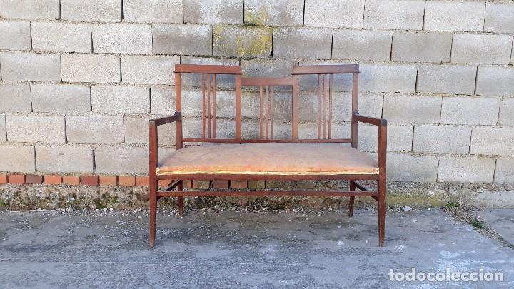 Antigüedades: Tresillo antiguo estilo modernista, sofá antiguo + dos sillones antiguos estilo modernista, art deco - Foto 6 - 113327643