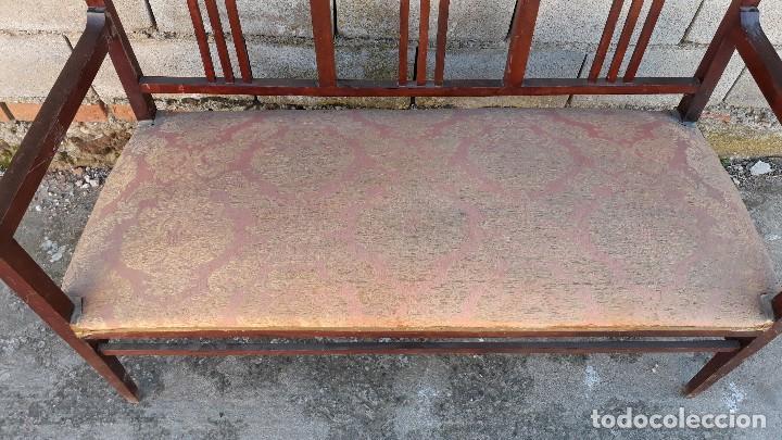 Antigüedades: Tresillo antiguo estilo modernista, sofá antiguo + dos sillones antiguos estilo modernista, art deco - Foto 8 - 113327643