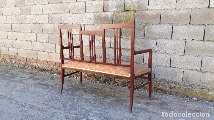 Antigüedades: Tresillo antiguo estilo modernista, sofá antiguo + dos sillones antiguos estilo modernista, art deco - Foto 9 - 113327643