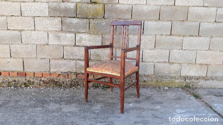 Antigüedades: Tresillo antiguo estilo modernista, sofá antiguo + dos sillones antiguos estilo modernista, art deco - Foto 11 - 113327643