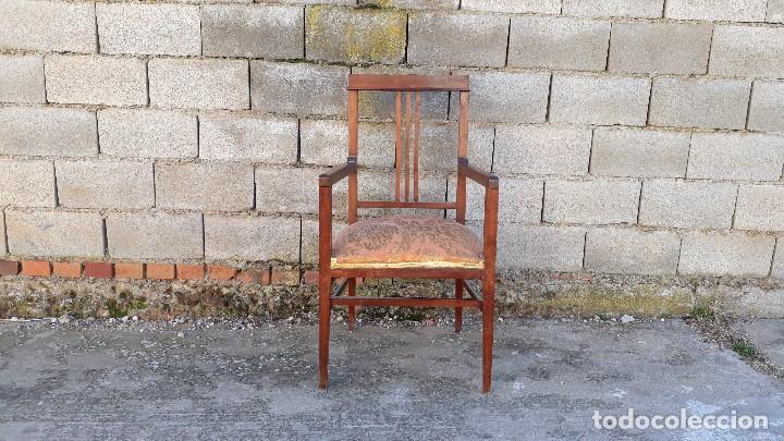 Antigüedades: Tresillo antiguo estilo modernista, sofá antiguo + dos sillones antiguos estilo modernista, art deco - Foto 12 - 113327643
