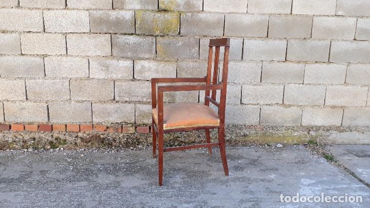 Antigüedades: Tresillo antiguo estilo modernista, sofá antiguo + dos sillones antiguos estilo modernista, art deco - Foto 13 - 113327643