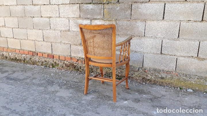 Antigüedades: Sillón antiguo de rejilla estilo rústico provenzal, silla antigua estilo Luis XV - Foto 4 - 113327967
