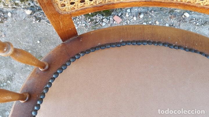 Antigüedades: Sillón antiguo de rejilla estilo rústico provenzal, silla antigua estilo Luis XV - Foto 7 - 113327967