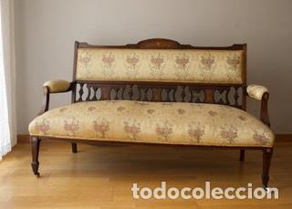 Dos butacas y un sof ingleses comprar sof s antiguos en todocoleccion 113352183 - Muebles ingleses antiguos ...