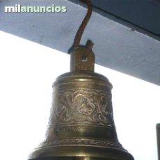 Antigüedades: CAMPANA BRONCE 15CM ALTURA , DIAMETRO 15CM , ES MUY GRANDE . Lote 113363535