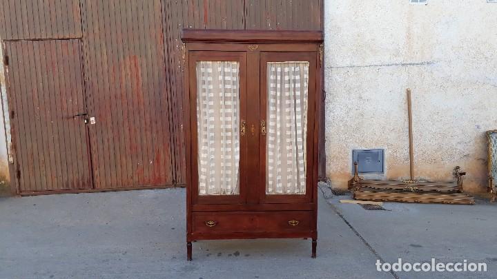 Antigüedades: Armario antiguo estilo modernista. Alacena antigua estilo rústico. Armario alacena vintage. - Foto 2 - 113364155
