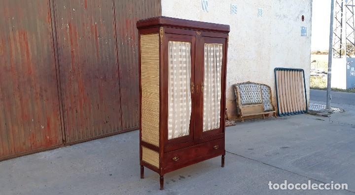 Antigüedades: Armario antiguo estilo modernista. Alacena antigua estilo rústico. Armario alacena vintage. - Foto 3 - 113364155