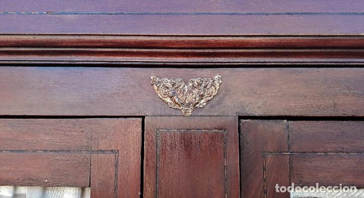 Antigüedades: Armario antiguo estilo modernista. Alacena antigua estilo rústico. Armario alacena vintage. - Foto 5 - 113364155