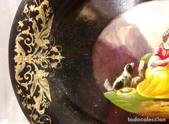 Antigüedades: Bandeja isabelina. Siglo XIX - Foto 4 - 113365579
