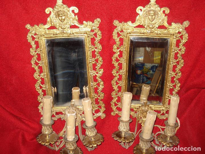 antigua pareja de marco en bronce tres velas is - Comprar Marcos ...