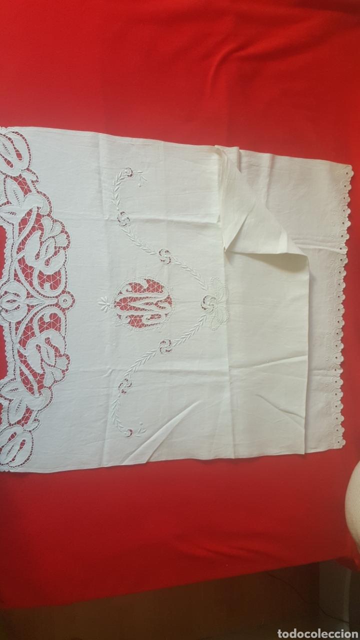Antigüedades: toalla hilo bordada siglo XIX - Foto 4 - 113411991