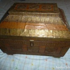 Antigüedades: COFRE ANTIGUO CON MOTIVOS ARABES. Lote 113426291