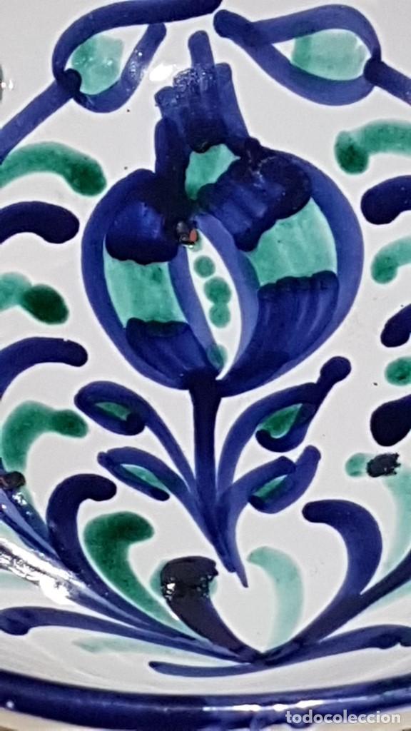 Antigüedades: BOL DE CERÁMICA GRANADINA FAJALAUZA, 22,5 cm. DIAMETRO Y 10 cm. DE ALTURA. - Foto 6 - 113434359