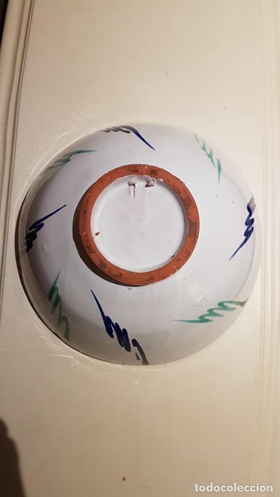 Antigüedades: BOL DE CERÁMICA GRANADINA FAJALAUZA, 22,5 cm. DIAMETRO Y 10 cm. DE ALTURA. - Foto 10 - 113434359